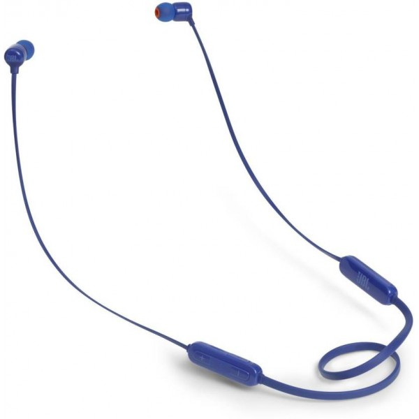 JBL T110BT Wireless Pure Bass Bluetooth Headset with Mic  (Blue, In the Ear)