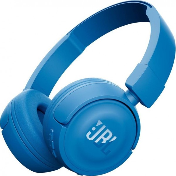 JBL T450 BT Bluetooth Headset with Mic  (Blue, On the Ear)