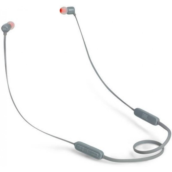 JBL T110BT Wireless Bluetooth Headset with Mic  (Grey, In the Ear)