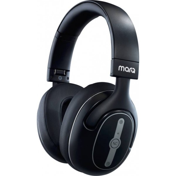 MarQ by Flipkart Active Noise Cancelling Bluetooth Headset with Mic  (Black, Over the Ear)