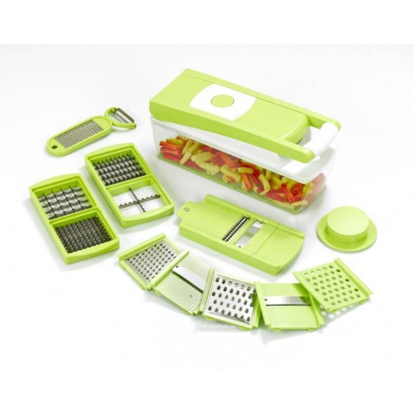 Ganesh 14 in one Quick Dicer Chopper  (Green)