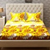 Bombay Dyeing 160 TC Polyester Double Floral Bedsheet  (1 Bedsheet, 2 Pillow Covers, Yellow)
