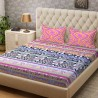 Bombay Dyeing 104 TC Cotton Double Printed Bedsheet  (1 Bedsheet, Pink)