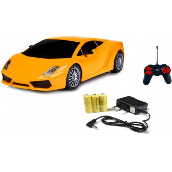 Miss & Chief Mini Racing 4 Channel Radio control RC Car, Yellow  (Yellow)
