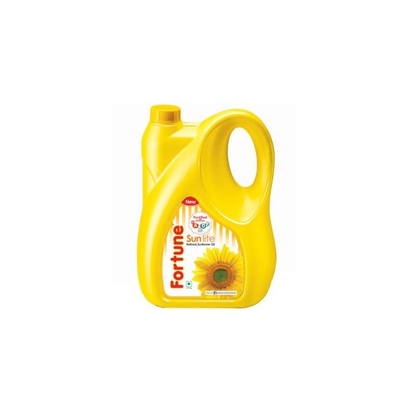 Fortune Sunflower Refined Oil - Sun lite, 5 ltr Can