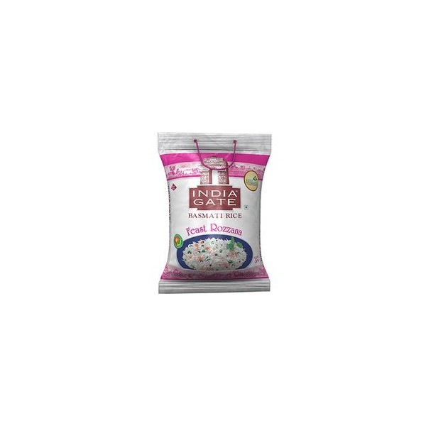 India Gate Basmati Rice - Feast Rozzana, 5 kg Pouch