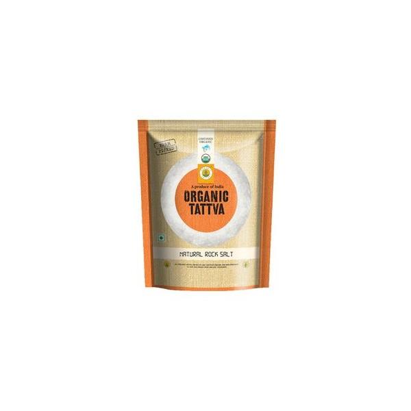 Organic Tattva Rock Salt - Natural, 500 gm Pouch