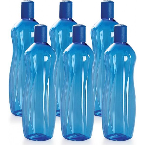 Cello Sipwell 1000 ml Bottle  (Pack of 6, Blue)