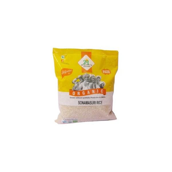 24 Mantra Organic Rice - Sonamasuri White, 1 kg Pouch