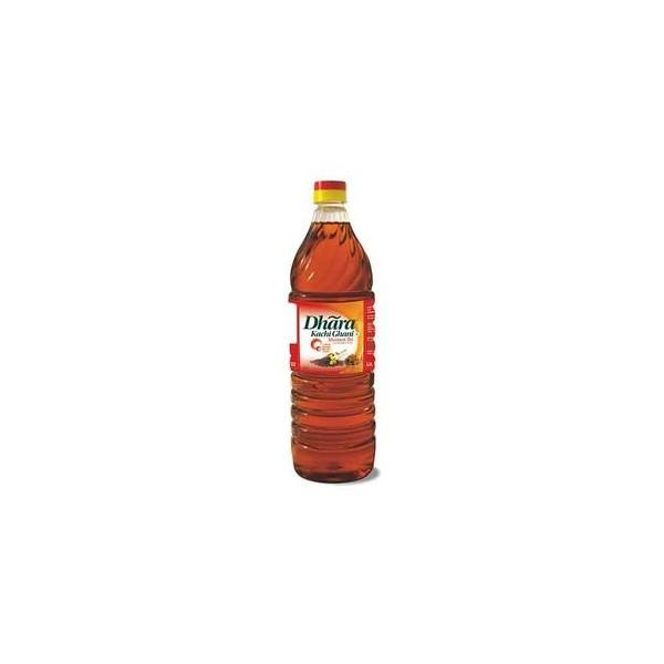 Dhara Oil - Mustard (Kachi Ghani), 1 ltr Bottle