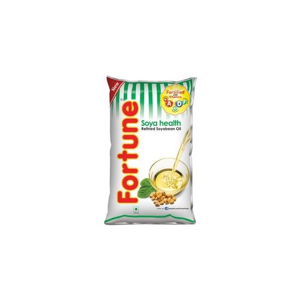 Fortune Refined Oil - Soya Bean, 1 ltr Pouch