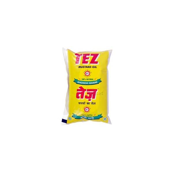 Tej Oil - Mustard (Kachchi Ghani), 1 ltr Pouch