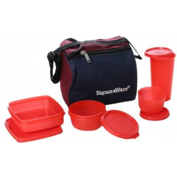 Signoraware Best - Red 4 Containers Lunch Box  (980 ml)