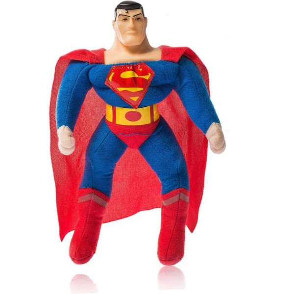 Dimpy Stuff Plush Toy- Superman Standing - 25 cm  (Multicolor)