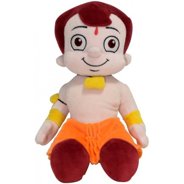 Chhota Bheem Plush Toy – Sitting - 30 cm  (Yellow, Orange)