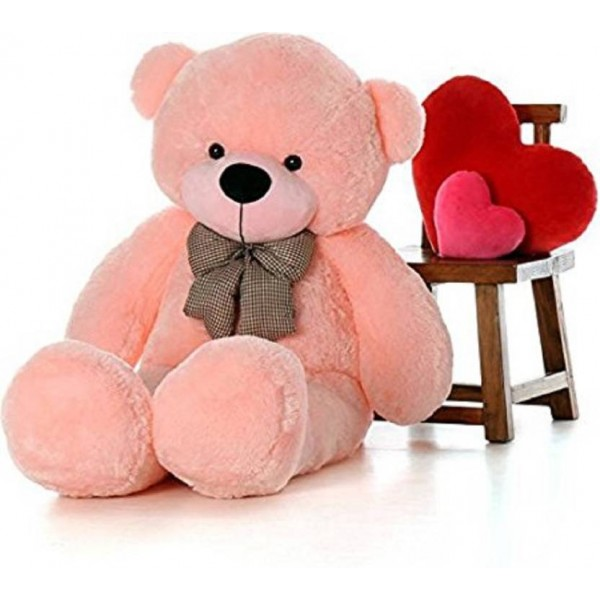 SRT 4 FEET PINK LONG TEDDY BEAR - 122 cm  (Pink)
