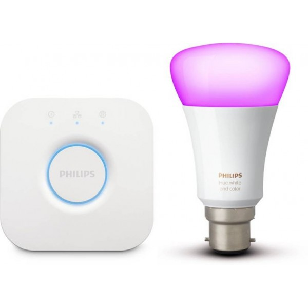 Philips Hue Mini Starter Kit with 10-Watt B22 Bulb (White Ambiance, Color Ambiance)