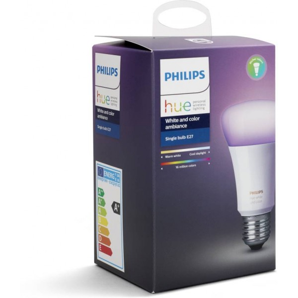 Philips Hue Base E27 10-Watt (White and color ambiance)