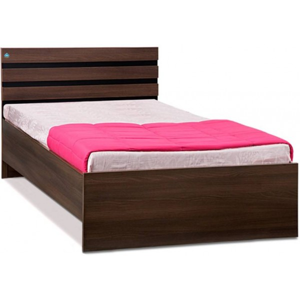 Delite Kom Cocoa Engineered Wood Single Bed  (Finish Color - Black & Acacia Dark Matt Finish)