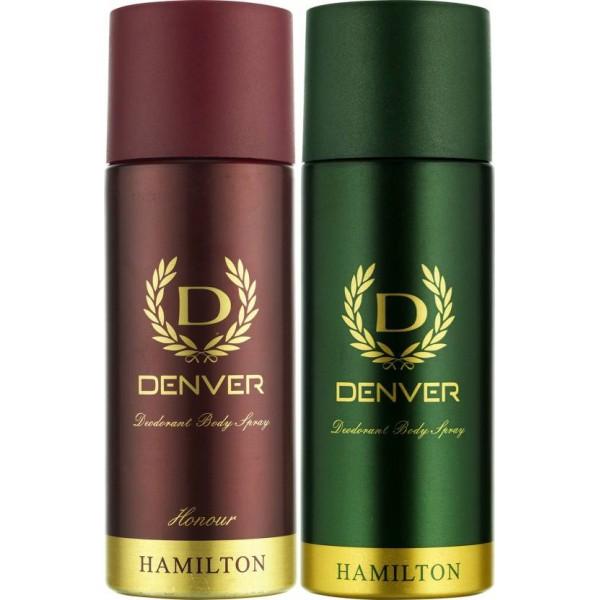 Denver Hamilton and Honour Deo Combo (Pack of 2) Deodorant Spray - For Men  (330 ml, Pack of 2)