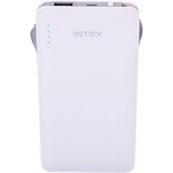 Intex 10000 Power Bank (IT- PB10K, Poly-02)  (White, Lithium Polymer)