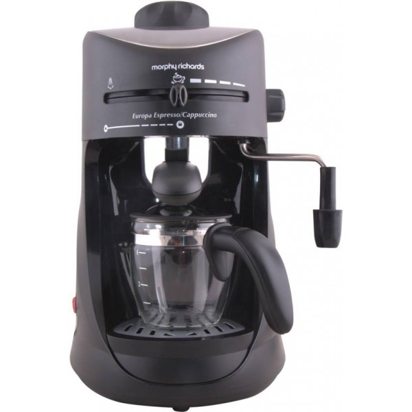 Morphy Richards Europa Espresso / Cappuccino 4 Cups Coffee Maker  (Black)