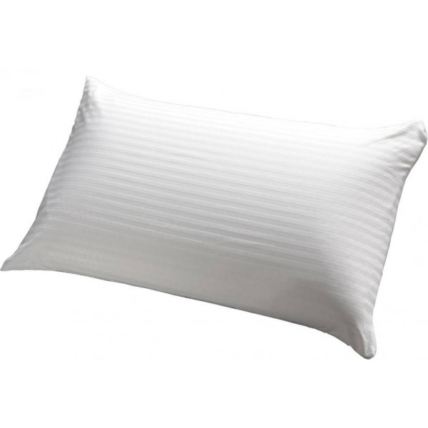 LA VERVE Stripes Bed/Sleeping Pillow Pack of 1  (White)