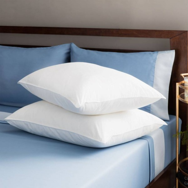 JDX Solid Bed/Sleeping Pillow Pack of 2  (White)