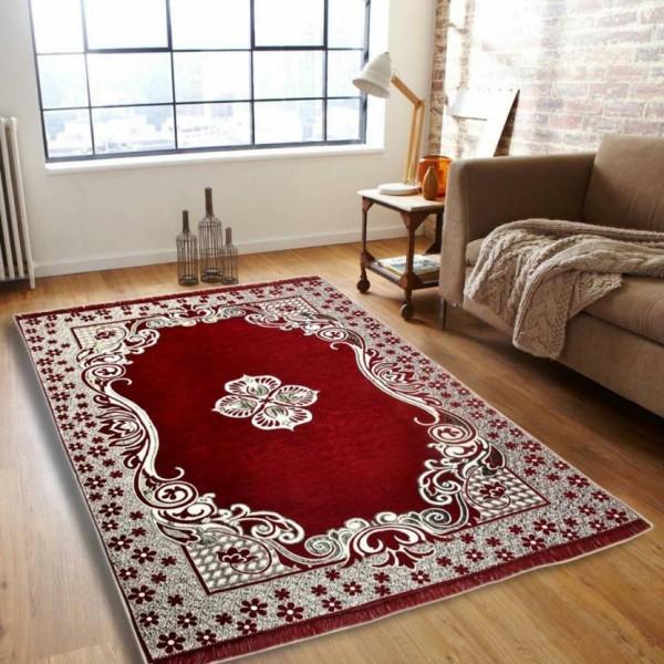Saanvi7 Star Multicolor Chenille Carpet  (155 cm X 215 cm)