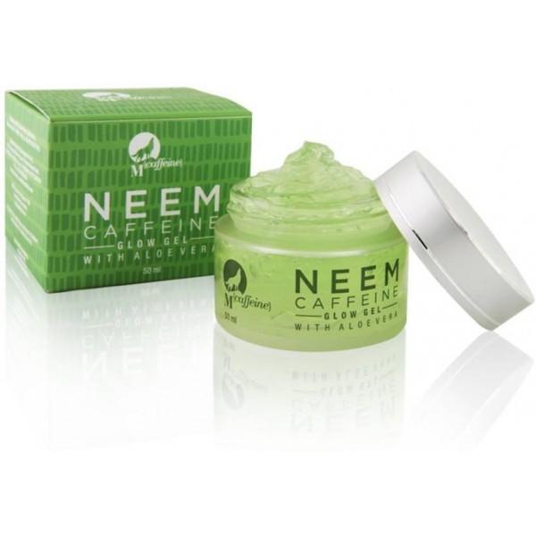 MCaffeine Neem Caffeine Glow gel, 50 ml with Aloe Vera - Paraben Free  (50 ml)