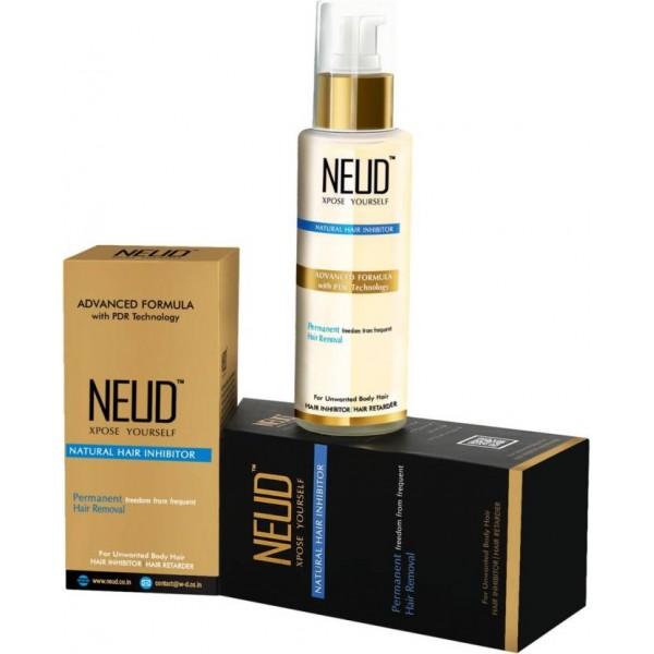 NEUD Natural Hair Inhibitor- Permananent Hair Removal Cream  (80 g)