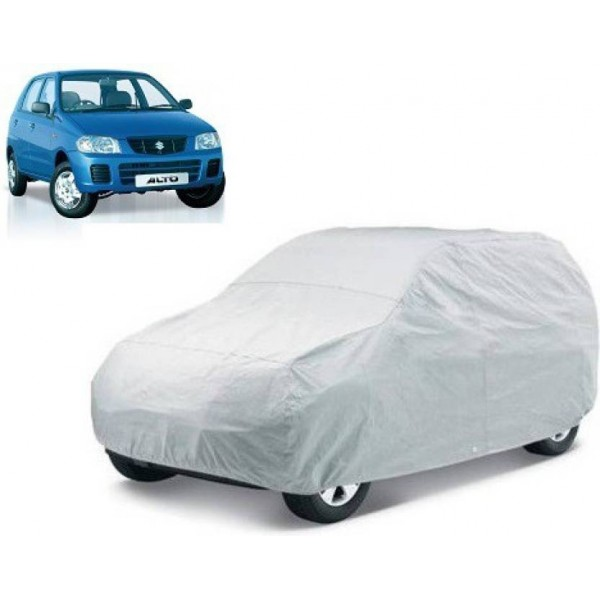 Tatkal Shopping Fun Car Cover For Maruti Suzuki Alto (Without Mirror Pockets)  (Silver)