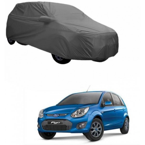 AutoKraftZ Car Cover For Ford Figo (With Mirror Pockets)  (Grey)