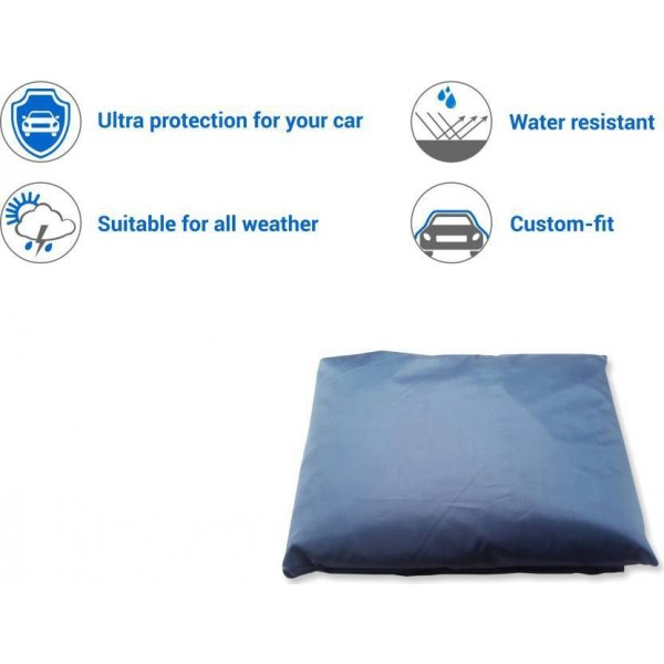 UK Blue Car Cover For Volkswagen Vento (With Mirror Pockets)  (Orange)