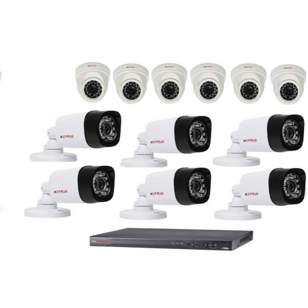 Cp Plus 16 channel dvr with 6 dome 6 bullet cctv camera 16 Channel Home Security Camera  (8 TB)