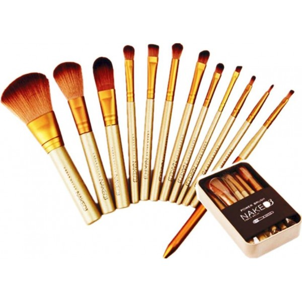 Lady Fashion Complete Makeup Brush Set  (Pack of 12)