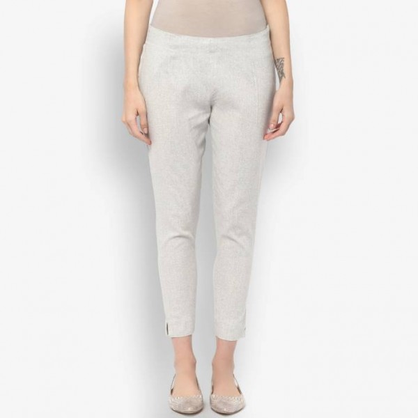 Krapal Regular Fit Women Grey Trousers
