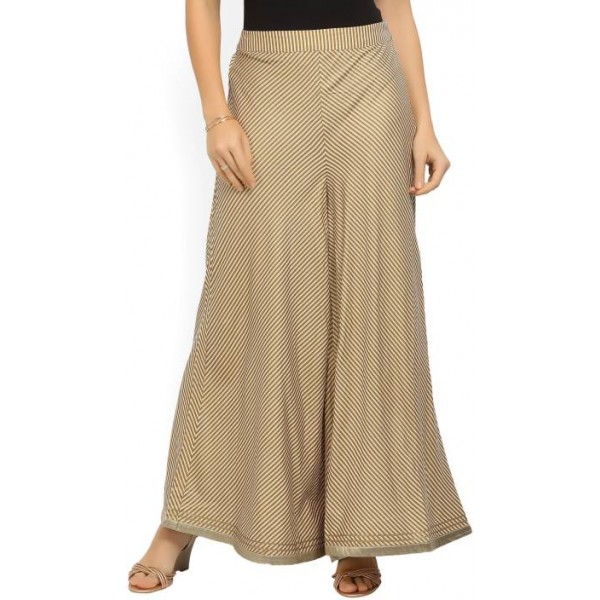W Relaxed Women's Gold Trousers