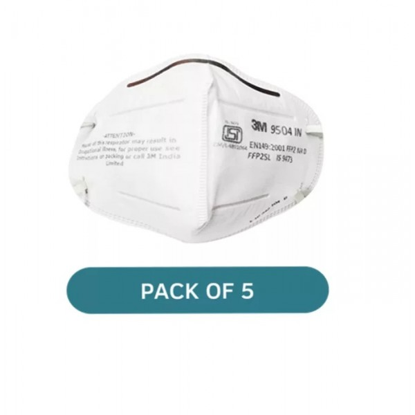 3M 9504IN Particulare Respirator Mask White Pack of 5
