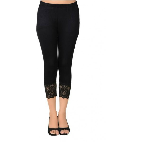 You Forever Women's Black Capri