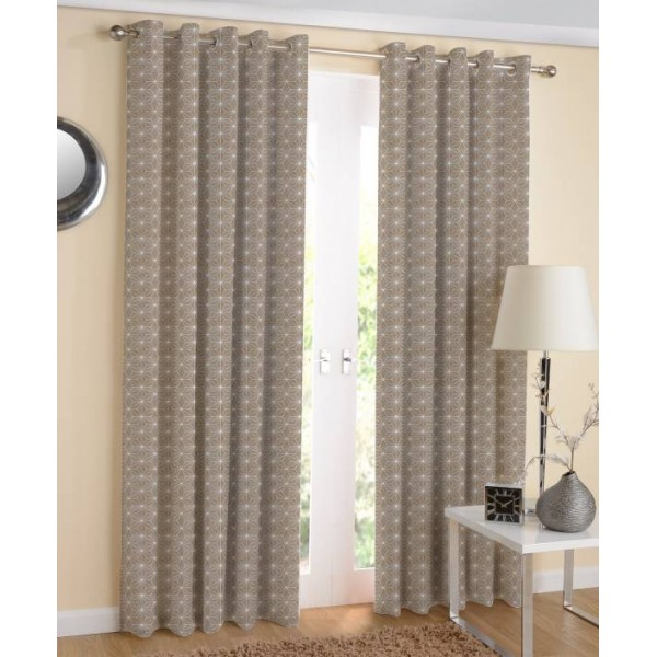 Airwill Cotton Door Curtain 220 cm (7 ft) Pack of 2  (Printed Brown, White)