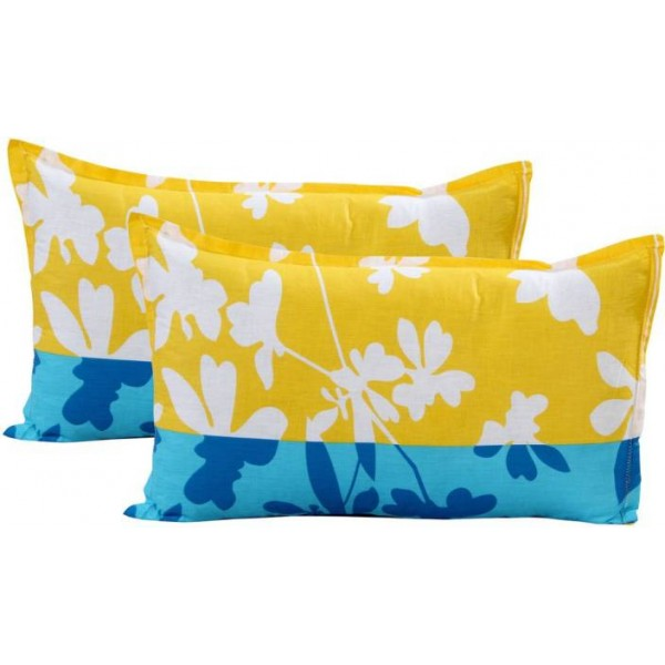 Home Elite Floral Pillows Cover  (Pack of 2, 46 cm*69 cm, Multicolor)
