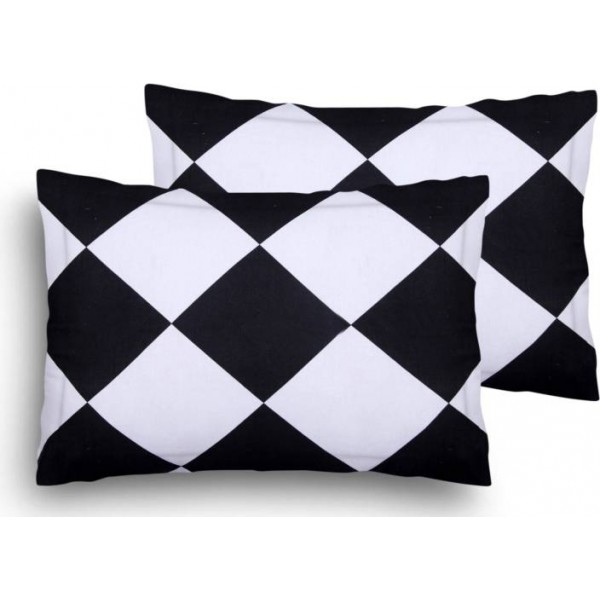 Home Elite Geometric Pillows Cover  (Pack of 2, 45 cm*69 cm, Multicolor)