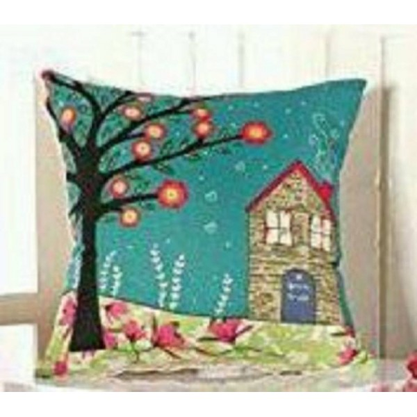 Zain Printed Cushions Cover  (Pack of 5, 40 cm*40 cm, Multicolor)