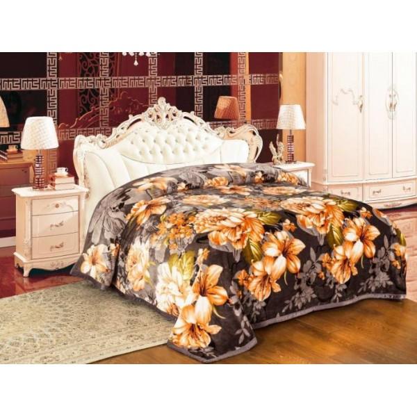 Signature Floral Single Blanket Multicolor  (Coral Blanket, Blanket)