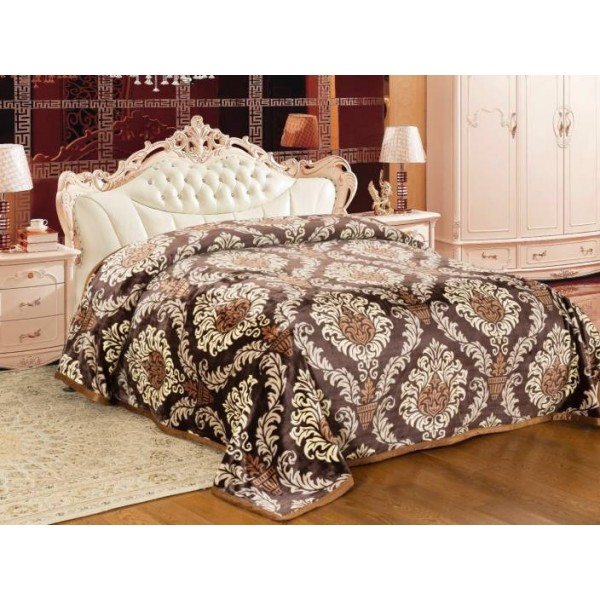 Signature Floral Double Blanket Multicolor  (Coral Blanket)