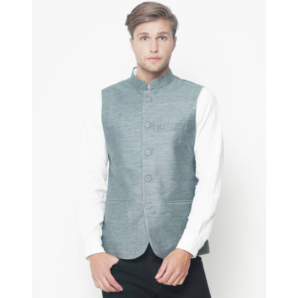 The Indian Garage Co Solid Men's Waistcoat