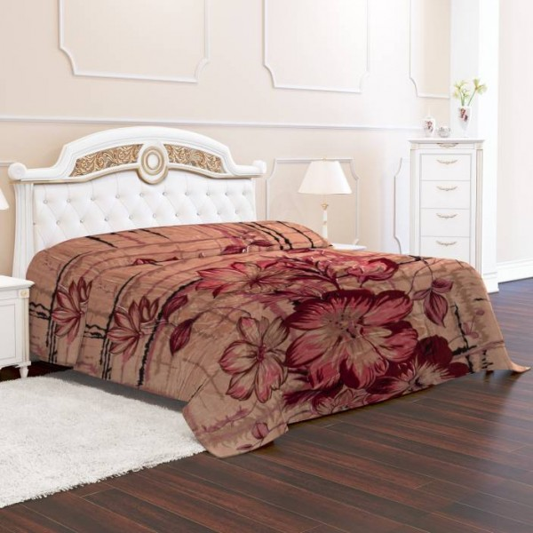Signature Floral Double Blanket Multicolor  (Mink Blanket, 1 Blanket)