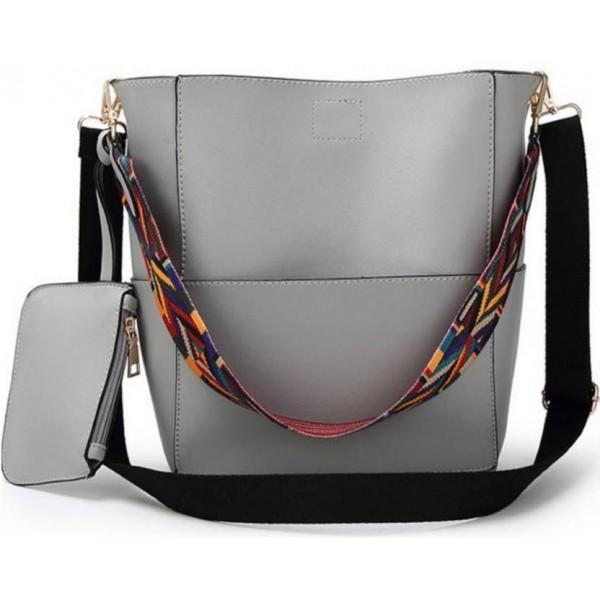 LACIRA Shoulder Bag  (Grey)