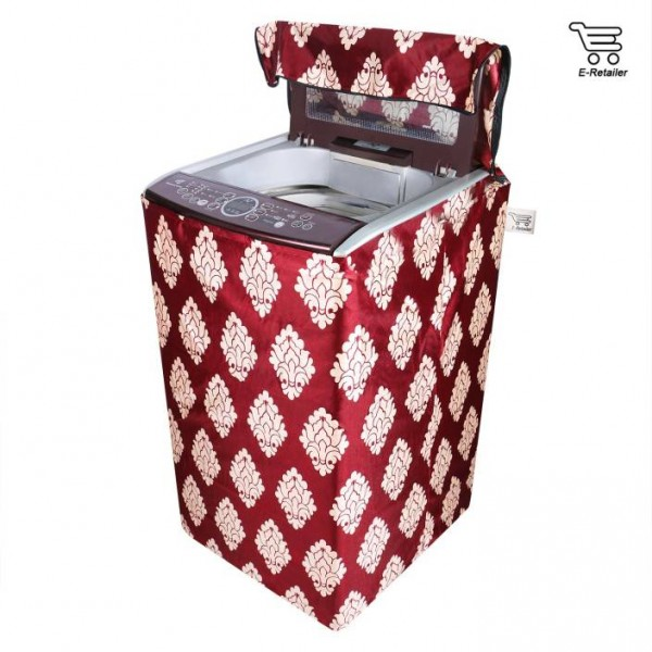 E-Retailer Washing Machine Cover  (Maroon)